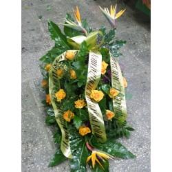 Wiązanka z pomarańczowych róż